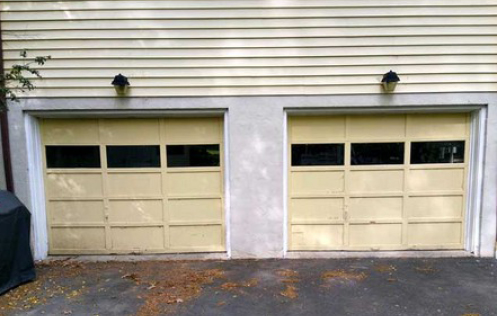 garage door install before
