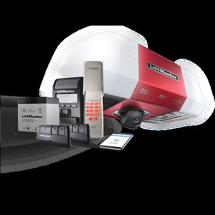 Secure View™ DC Battery Backup Belt Drive Wi-Fi® Garage Door Opener